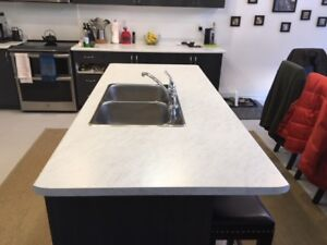 Kitchen countertops and sink
