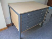 A1 Plan Chest/Table for architectural plans, maps, artwork etc