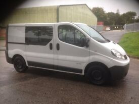 RENAULT TRAFIC LL27 dci 115 2009 CREW CAB FACTORY FITTED NO VAT
