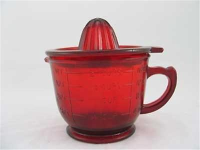 Ruby Red Glass 2 Cup Juicer- Reamer