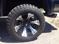 Set of 4 almost new 35x12.50R20 Ironman MT tires