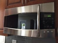 GE stainless steel over range microwave oven