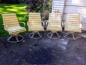 Rare! 4 Chaises Patio Mid Century Homecrest West Island Greater Montréal image 6