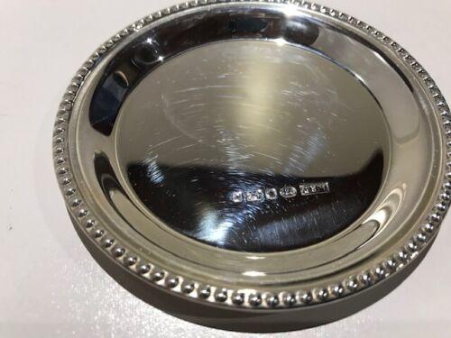 A Hallmarked Silver Bead Edge Pin Tray