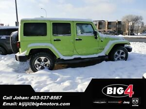 2016 Jeep Wrangler Unlimited Sahara HYPER GREEN, MY 2016 SALE!