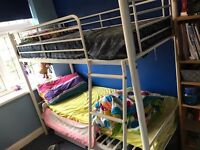 Metal Bunk bed with mattress in excellent condition for sale in Hayes UB4