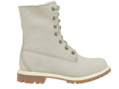 Damen Boots Stiefel Timberland Authentics Teddy Fleece Weiß 8331R (Damen Weiß Timberland Boots)