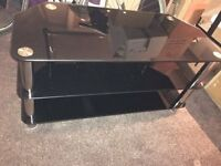 TV stand - black/chrome