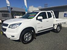 2013 Holden Colorado RG LX (4x4) White 5 Speed Manual Spacecab Newcastle 2300 Newcastle Area Preview