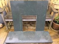, green slate and wood surround together or separately