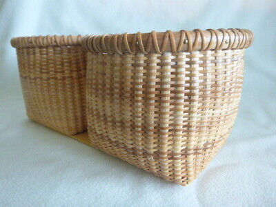 Nantucket Lightship and Double Farm Ash Splint Baskets on Ash Base for sale  Shipping to Canada