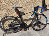 """Giant Espoir TCR 24"""" Road Bike, 2015, Black / Blue. Excellent Condition, Ideal for 9-12 Year Olds"""