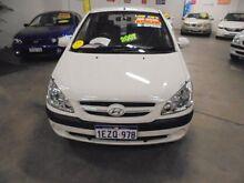 2007 Hyundai Getz TB MY07 S White 5 Speed Manual Hatchback Wangara Wanneroo Area Preview