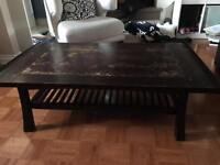 Structube dark wood coffee table