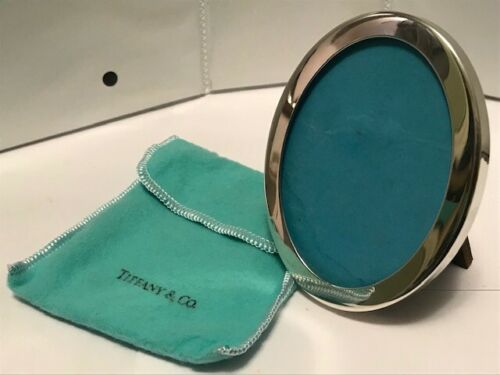 "Tiffany & Co Sterling 925 Italy Oval Picture Frame 3.3""X 2.4"".-128"