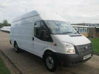 2012 62 FORD TRANSIT 2.2 TDCI LWB JUMBO HIGH ROOF T350 125 BHP. LOW 43K MILES. D