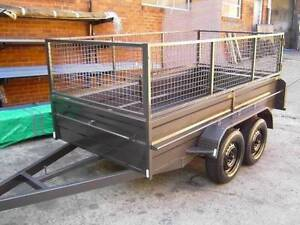 10X5 BRAND NEW HEAVY DUTY TANDEM TRAILER + CAGE Carlton Kogarah Area Preview