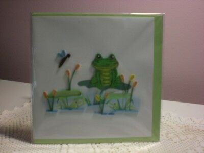 Quilling Cards LLC - 3D Frog Note Card  for sale  Shipping to Canada