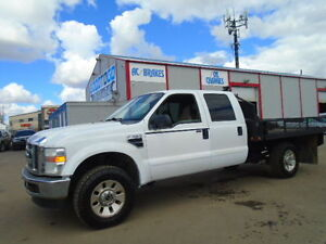 2008 Ford F-350 XLT 4X4 CREWCAB-ONE OWNER TRUCK--FLATDECK