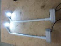 2 x Hydrostar Exterior Shop Display Light Fittings with Adjustable Lamps