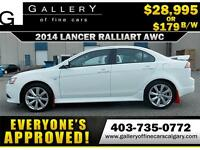 2014 Lancer Ralliart AWC $179 BI-WEEKLY APPLY NOW DRIVE NOW