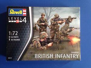 Modernos-Ejercito-Britanico-48-FIGURAS-Revell-Miniatura-1-72-Escala