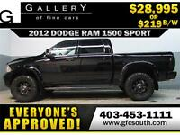 2012 DODGE RAM SPORT LIFTED *EVERYONE APPROVED* $0 DOWN $219/BW!