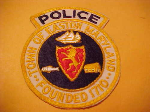 TOWN OF EASTON MARYLAND POLICE PATCH SHOULDER SIZE USED