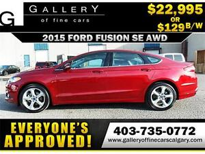 2015 Ford Fusion SE AWD $129 bi-weekly APPLY NOW DRIVE NOW