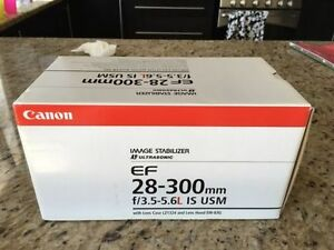 Canon 28-300mm L Series Pro White Lens IS USM New Condition