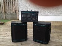 Peavey XRD680S mixer amp and Hisys 1 speakers plus cables