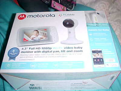 "NIB Motorola Hubble 4.3"" Full HD 1080p Wi-Fi Video Monitor w/digital pan etc"