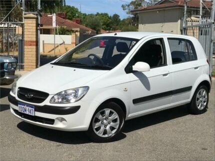 2011 Hyundai Getz TB MY09 S White 5 Speed Manual Hatchback St James Victoria Park Area Preview