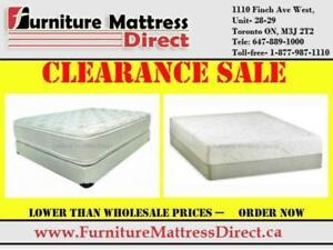 MATTRESS LIQUIDATION SALE SMOOTH TOP  ORTHOPEDIC  PILLOW-TOP  MEMORY FOAM  LIMITED TIME ONLY