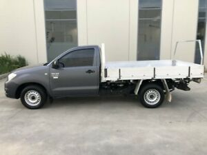 2010 Toyota Hilux TGN16R MY11 Upgrade Workmate Grey 5 Speed Manual Cab Chassis Castle Hill The Hills District Preview