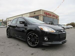 2014 Ford Focus SE, LEATHER, ROOF, ALLOYS, BT, 75K!