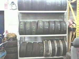 RACKING FOR TIRE STORAGE 8FT HIGH 3 LEVELS FOR 24 TIRES SEE PIC Peterborough Peterborough Area image 1