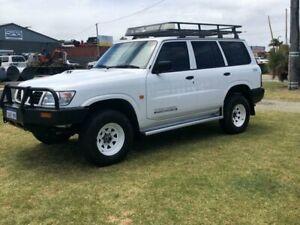 1998 Nissan Patrol GU DX Wagon 4dr Man 5sp 4x4 2.8DT White Manual Wagon