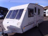 Ace Manhattan 470/4 inc Awning Compact 4 berth Touring Caravan.