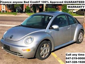 2001 Volkswagen New Beetle GLX FINANCE 100% APPROVED 154,320 KM