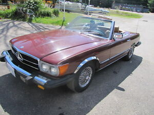 1984 Mercedes 380 SL convertible 2 seater roadster