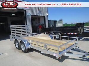 DIRECT PRICING - SAVE MONEY ON ALUMINUM LANDSCAPE TRAILER 16'
