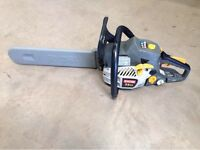 RYOBI PETROL CHAINSAW, IMMACULATE CONDITION WITH CARRY BOX & TOOLS