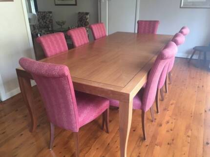 High End Dining Table and 8 Chairs St Ives Ku-ring-gai Area Preview