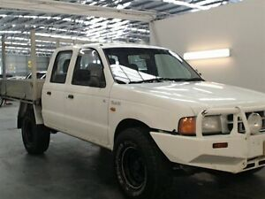 2002 Ford Courier PE GL (4x4) White 5 Speed Manual 4x4 Cab Chassis Beresfield Newcastle Area Preview