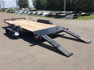 "NEW 2018 SURE-TRAC 82"" x 18' (7K) C-CHANNEL CAR HAULER"