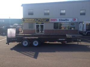 "NEW 2016 WEBERLANE 79"" X 18' EQUIPMENT TRAILER"