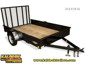 H&H Solid Side Utility Trailer