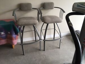 Two Bar Stools in Excellent Condition