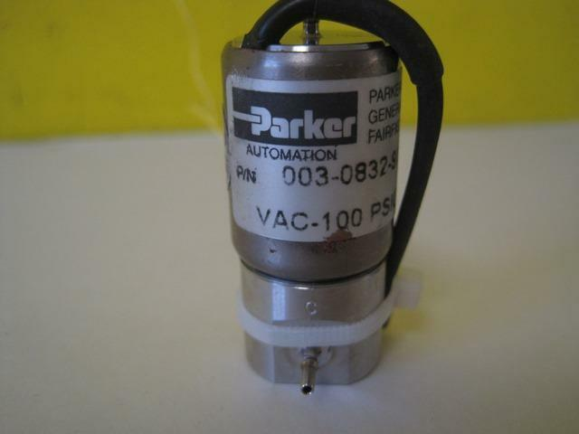 Parker Hannifin 003-0832-900 Solenoid Valve VAC-100 PSIG 24 VDC Used part